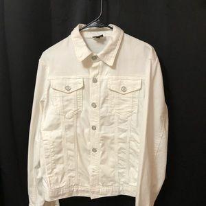 Armani Exhange denim jacket white
